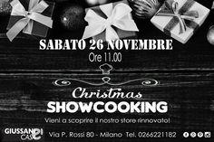 Showcooking dedicato al Natale presso il nostro store di Milano Affori