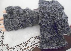 """MITAINES """"BEATRICE"""" tricotées main pour femmes : Mitaines, gants par misty-tuss-tricote"""