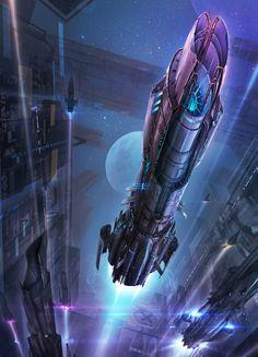 >>  #art #science fiction #sci fi #spaceship #space opera #huang qin