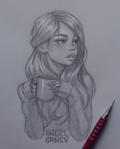 Amazing art drawings people awesome Ideas for 2019 Cool Girl Drawings, Girl Drawing Sketches, Girly Drawings, Art Drawings Sketches Simple, Amazing Drawings, Pencil Art Drawings, Easy Drawings, Amazing Art, Drawing Ideas