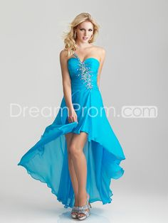 US $119.99 Free Shipping 2013 One Shouldered Sweetheart Hi-Low Prom Dress