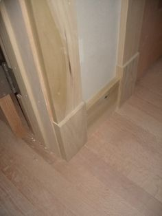 baseboards like this idea to replace existing baseboards. All straight cuts no mitering.