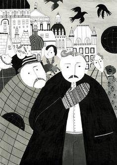 Iwona Szczepanik, ilustracje, illustrations,