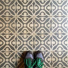 Happy Monday! We spotted these nice grey #tiles in an old store in #Palafrugell! #TileAddiction