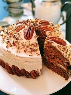 Frosting Recipes, Cake Recipes, Vegan Recipes, Cinnamon Cream Cheese Frosting, Cake With Cream Cheese, Round Cake Pans, Round Cakes, One Layer Cakes, Healthy Carrot Cakes