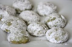 Green Tea Almond Russian Tea Cakes