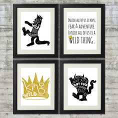 Where The Wild Things Are Print  Set of 4 8x10 Prints in