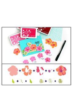 hero arts color layering hibiscus - Google Search