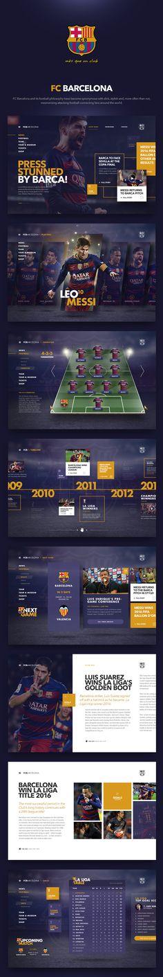 FC Barcelona design by Fred Nerby. https://www.behance.net/gallery/37276397/FC-Barcelona