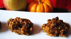 apple pumpkin oatmeal raisin cookies - low sugar, no butter/oil
