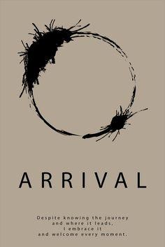 Arrival 2016 movie minimalist poster