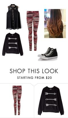 """ATS #1 B"" by alemiglietti ❤ liked on Polyvore featuring Zoe Karssen and Converse"