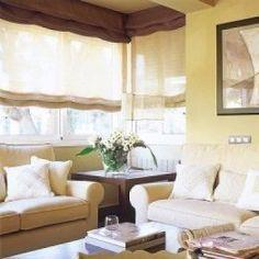 Bonito ambiente con estores dobles para decorar y - Estor o cortina ...