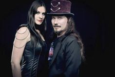Floor Jansen and Tuomas Holopainen. Love this photo tbh, pretty badass!