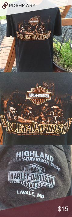 Harley Davidson Mens T Shirt Size XL Journey Size XL. Back is all black. Harley-Davidson Shirts Tees - Short Sleeve
