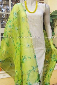 Designer Kota Silk Dupatta with Shibori & Bandhani Patterns Modest Fashion Hijab, Silk Dupatta, Punjabi Suits, Dress Designs, Shibori, Indian Dresses, Cloths, Designer Dresses, Kimono Top