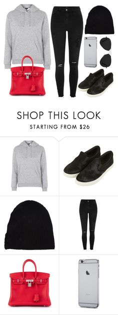 """Style #11502"" by vany-alvarado ❤ liked on Polyvore featuring Topshop, Yves Saint Laurent, River Island, Hermès and Ray-Ban"