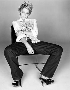 """Be kind and respectful."" Ellen DeGeneres for W Magazine, March 2007. Styled by Alex White. Photographed by Michael Thompson."