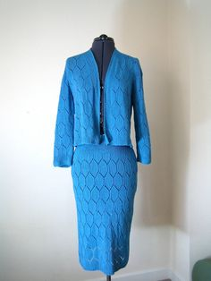 1940s1950s knitted cardigan and skirt set in a by TopTottieVintage, £38.00