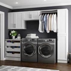 Modern Laundry Rooms, Laundry Room Layouts, Laundry Room Remodel, Laundry Room Design, Basement Laundry, Laundry Rack, Laundry Room Makeovers, Hidden Laundry, Laundry Shelves