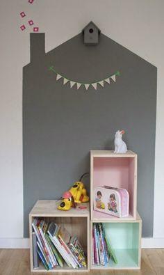 Dormitorios infantiles con paredes originales | Estilo Escandinavo
