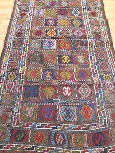 Turkish Kilim Rug Kilim Ottoman 3.10 x 5.76 ft Area Rug Anatolian Rug Kilim  Rug Floor 032fb89920