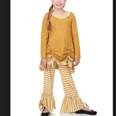 One Posh Kid Mustard Fall  from Freckles Children's Boutique for $18.00