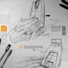 Personal sketching in 2016. Happy new year  #Sketching#rendering#drowing#pen#car#interior#design#industrialdesign #conceptart#concept#transportationdesign #sketching#ideation#newyear#2016#art#chair#set#