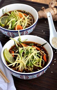 Nettoyage Ramen soupe {végétalien, sans gluten} - Alimentation Well Said