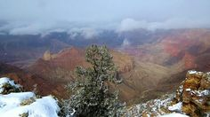 Snow covered canyon. How awesome.