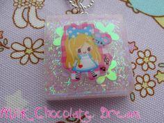Alice in Wonderland Resin Necklace by MilkChocolateDream on Etsy, $8.00