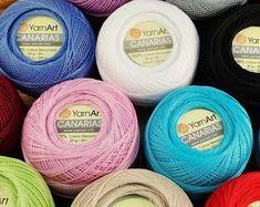Mercerized Cotton Yarn, Lace Knitting, Needles Sizes, Yarn Colors, Crochet Patterns, Victoria, Etsy, Beautiful, Grey Hair