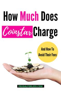 """If you're trying to get rid of some coins, you're probably asking yourself, """"How much does Coinstar charge?"""" In this article, we cover how the machine works, alternatives and ultimately how to avoid their fees. Counting Coins, Ways To Save Money, Frugal Living, Rid, Saving Money, Cover, Save My Money, Money Savers, Frugal"""