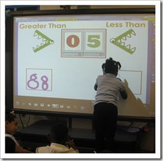 smart board with printable - Greater Than Less Than Comparing Numbers