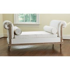 have to have this!!!  Luxurious Convertible Settee can fit nicely in a glam nursery and can be used at the foot of the bed as the child grows!!
