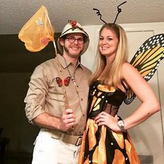 21 DIY Couples Costumes for Halloween - Karnevalskostüme - Carnaval Bug Costume, Cute Couple Halloween Costumes, Fete Halloween, Cute Halloween Costumes, Diy Costumes, Halloween Couples, Women Halloween, Halloween Recipe, Halloween Decorations