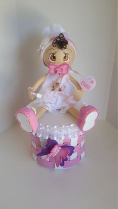 Baby shower centerpiece Baby fofucha by Sliceofdreams on Etsy Foam Crafts, Diy And Crafts, Baby Shawer, Cute Eyes, Birthday Treats, Baby Shower Centerpieces, Christening, Princess Peach, 3 D