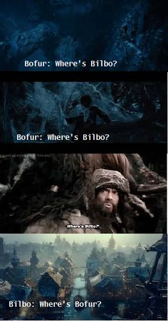 Bofur looking out for Bilbo :)