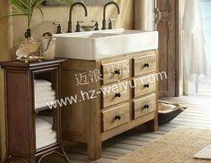 Silkroad Exclusive Mesa 48 Inch Double Sink Bathroom Vanity (Baltic Brown  Granite Top) | Double Sink Bathroom