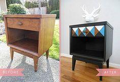 Vintage nightstand makeover - Decoist