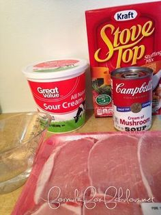 Pork Chops and Stuffing Pork Chops and stuffing crock pot recipe. Perfect for busy moms or college students.Pork Chops and stuffing crock pot recipe. Perfect for busy moms or college students. Pork Chop Casserole, Stuffing Casserole, Stuffing Recipes, Stuffing Mix, Pork Chops With Stuffing, Pork Chops And Stuffing Crock Pot Recipe, Crock Pot Pork Chops, Casserole Recipes, Stove Top Pork Chops