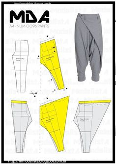 FREE PATTERN ALERT: 15+ Pants and Skirts Sewing Tutorials: Get access to hundreds of free sewing patterns and unique modern designs Mens Sewing Patterns, Free Printable Sewing Patterns, Sewing Men, Pattern Sewing, Pattern Cutting, Sewing Pants, Free Sewing, Dress Patterns, Sewing Clothes