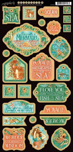 Voyage Beneath the Sea Decorative Chipboard #sneakpeeks #graphic45