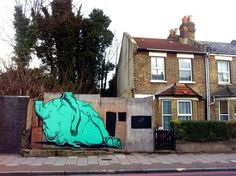 Street art in London, UK by RUN #streetart #urbanart #mural #graffiti #art #streetartists #run #london