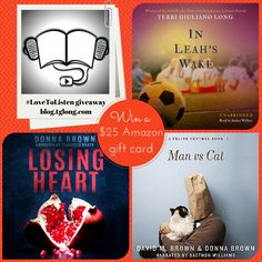 Valentine's #LoveToListen Giveaway: Celebrating Audiobooks – To mark Valentine's Day 2015, join Terri Giuliano Long, David M. Brown and Donna Brown for their #LoveToListen giveaway, celebrating audiobooks
