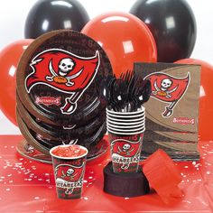 NFL® Tampa Bay Buccaneers™ Basic Party Pack - OrientalTrading.com