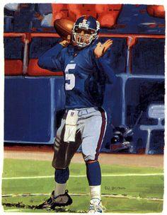 Kerry Collins, NY Giants by D.J. Brown, 2002
