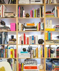 Secrets To Styling A Gorgeous (& Functional) Bookcase  #refinery29  http://www.refinery29.com/bookshelf-makeover
