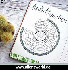 Bullet Journal - Kaktus   Habit Tracker  #bulletjournal #bujo #cactus #habittracker