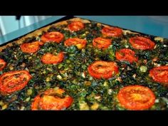 Coca de verduras | Coca de verdures - Recetas Mallorquinas - YouTube Tapas, Empanadas, Savory Tart, Vegetable Pizza, Coco, Food To Make, Yummy Food, Pasta, Vegan